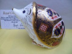 "Royal Crown Derby Paperweight ""Imari Hedgehog"" L Edition EX to Peter Jones China 