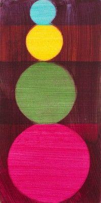 Mali Morris, Second Act, 2007, acrylic on canvas, 26 x 13 cm. Photo: Colin Mills