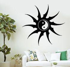 Vinyl Wall Decal Zodiac Signs Horoscope Sun Bedroom Design - Zen wall decalsvinyl wall decal yin yang yoga zen meditation bedroom decor