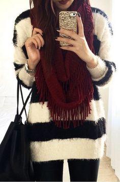 Furry Stripe Sweater