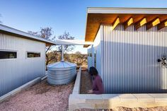 The friends constructed a mini-home complex they labeled the Llano Exit Strategy. According to a 2014 feature in Small House Bliss, the… Tiny House Community, Growing Old Together, Metal Siding, Little Cabin, House Siding, Metal Homes, Couple, Decoration, Real Estate
