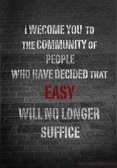 easy will no longer suffice.