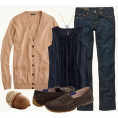 Camel and Navy, another great color combo.