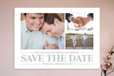 Merriment Save The Date Cards by Sarah Brown at minted.com