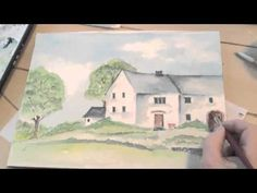 ▶ Watercolor Painting English Cottage Lesson 7 - YouTube