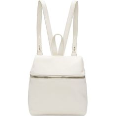 6b61a9021b69 Kara - Off-White Small Leather Backpack. Real LeatherLeather BagsZipper ...