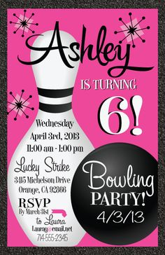 Free printable kids bowling party invitations download get this teen party favors bowling invitations birthday invites teenadult birthday retro filmwisefo
