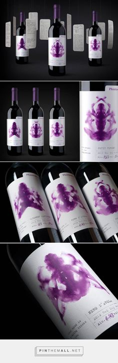 Разработка бренда Phantasm - агентство «Свое мнение» curated by Packaging Diva PD. True emotions of love wine packaging.