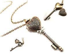 DaisyJewel Victorian Romance Key to My Heart Locket Pendant Necklace DaisyJewel http://smile.amazon.com/dp/B009OMFJ60/ref=cm_sw_r_pi_dp_ILIEub0K69K2W #shopsmall #smallbusinesssaturday #smallbizsat