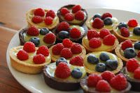 lemon & lime berry tarts