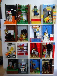 Minifig shelf by cecilihf, via Flickr