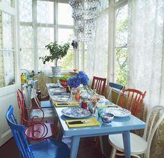 mesa colorida... adoro
