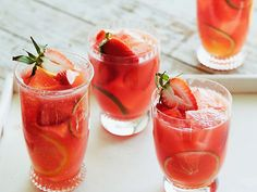 Watermelon-Strawberry Sangria Recipe : Bobby Flay : Food Network