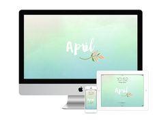 April wallpapers for desktop, tablet and mobile! By Dara Skolnick