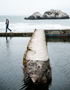 So apparently there was this place called the Sutro Baths just outside of San Francisco built in the late 1800's and you can go visit the ruins! Must. Do!