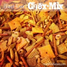 The best Chex Mix you will ever eat, promise! #snacks #amazeballs #gizzies
