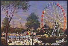 1974 Great Adventure Amusement Park, New Jersey Post Card, Lot of 4 different out of print post cards, average Ex/M condition, all unused, $12