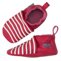 Love this! at Polarn O. Pyret UK & Ireland KAVAT SOFT LEATHER BABY SHOES #polarnopyretuk #qualitychildrensclothes #colourfulkidsclothes Organic PO.P-stripe slippers with elasticated back section that makes them easy to slip on and off. The suede sole gives a good grip against the floor. The slippers have been designed in association with Swedish shoe brand KAVAT.
