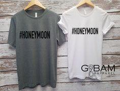 Honeymoon shirts Mr. and Mrs. Shirts / Bride & by GandBamApparel