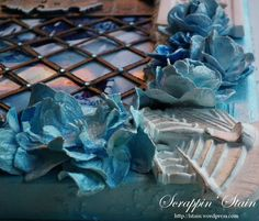 """Mixed Media Canvas """"Frozen"""" 4 by Scrappin' Stain"""