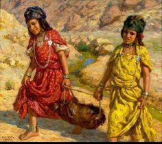 Voyage chez les Amazighes  Étienne Dinet Human Anatomy Drawing, Arabian Art, Islamic World, North Africa, Mosaic Art, All Art, Art History, Artwork, Graffiti