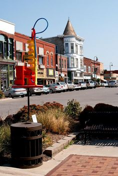 Fairfield, Iowa - many main streets in Iowa look just like this.  I love it!