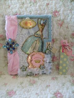 blue,altered art,shabby,french,cottage,victorian,marie antoinette,diary,journal, 2 | by stephanies cottage!