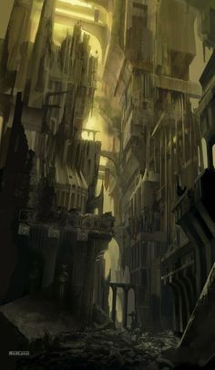 Matte painting for Warhammer 40.000: Squad Command FMVs.