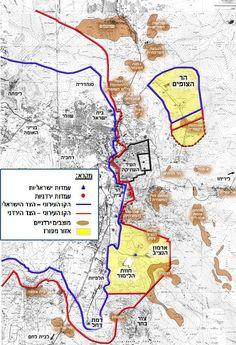 לפני מלחמת ששת הימים - מפות ירושלים