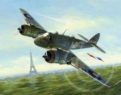 Beaufighter over Paris