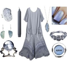 Frost Witch by maggiehemlock on Polyvore featuring Sarah Kosta, momocreatura, 14th & Union and By Lassen