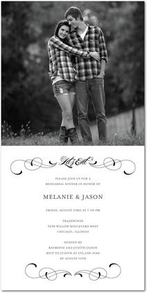 Rehearsal Dinner Invite with Photo