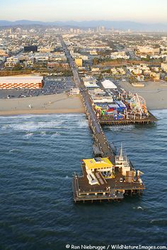 Aerial view of Santa Monica Pier