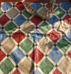 Large, colourful designer Tote Bag. Unmissable! £5.00 Designer Totes, Tote Bag, Quilts, Blanket, Bags, Color, Purses, Colour, Comforters