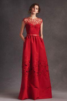Red Evening / Cocktail Dress by Oscar de la Renta (Pre Spring Summer 2016)