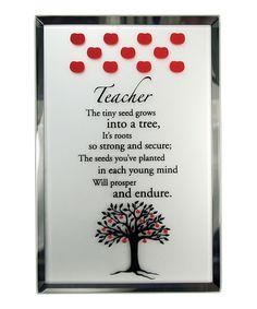 About Face Designs 6 Teacher Apple Tree Mirrored Wall Art | zulily