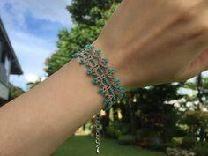 Items similar to Tatting lace bracelet pdf pattern (Twilight Gate) on Etsy Tatting Bracelet, Lace Bracelet, Tatting Jewelry, Diy Jewelry, Handmade Jewelry, Beaded Bracelets, Jewellery, Tatting Patterns, Lace Patterns