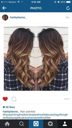 Obsessed with these chocolate brown and caramel blonde balayage highlights! ---> http://tipsalud.com: