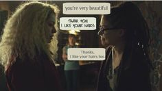 This meeting was my favorite. Cosima is so open-hearted, and she just accepts Helena completely from the first moment. <---- pinning for that comment, it's the perfect explanation of this moment Helena Orphan Black, Netflix, Black Tv Shows, Favorite Tv Shows, My Favorite Things, Tatiana Maslany, Broadchurch, Music Tv, Black Love