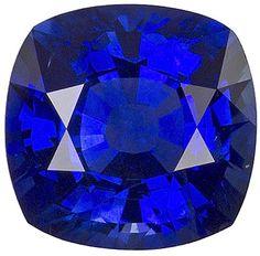 Genuine Blue Sapphire Loose Gemstone, Cushion Cut, 6.8 x 6.6 mm, 1.62 Carats at BitCoin Gems