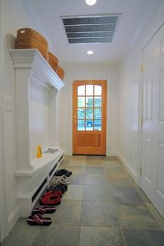 Moulding & simple bench  Mudroom - eclectic - entry - other metro - by ARCHIA HOMES