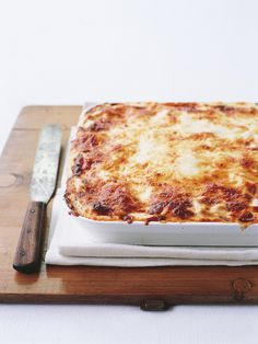 Lasagne: From Donna Hay. Make sure you use her bolognese recipe to make this (link in this recipe). 5 stars! I make one of these, cut into 8 and freeze portions in sandwich bags. Work lunch - sorted.