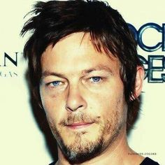 Morning Blue eyes... #normanreedus #bigbaldhead #blueeyes