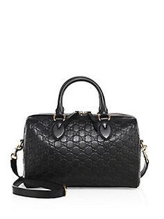 ed55f1fbbc65 Gucci - Medium Soft Signature Leather Boston Bag