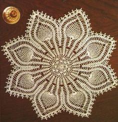 crochet patterns for doilies Crochet Needles, Thread Crochet, Knit Or Crochet, Cute Crochet, Beautiful Crochet, Crochet Stitches, Crochet Doily Patterns, Crochet Doilies, Magazine Crochet