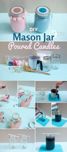 Check out the tutorial: #DIY M ason Jar Poured Candles @istandarddesign