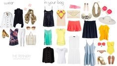 Great minimalist packing list for a weeklong beach vacation! -CR