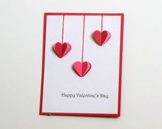 Handmade Valentine Card  Hearts by k8cards on Etsy, $4.00