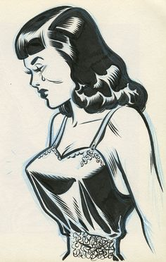 Sketchbook page by Charles Burns featured in the new book 'Comics Sketchbooks'