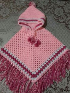Best 12 Beautiful hand crochet poncho and hat in minni mouse coloured red black and white.Best 12 Discover Art inspiration, ideas, styles – Page 766949011521973968 – SkillOfKing. Crotchet Blanket, Baby Girl Crochet Blanket, Baby Poncho, Kids Poncho, Crochet Baby Clothes, Children's Poncho, Crochet Poncho Patterns, Baby Knitting Patterns, Crochet Scarves